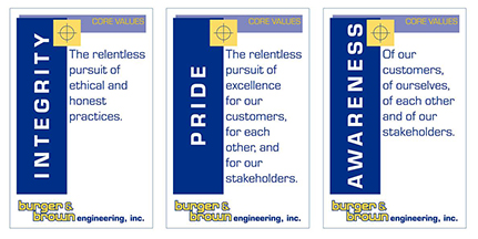 Our Core Values of Integrity Pride and Awareness